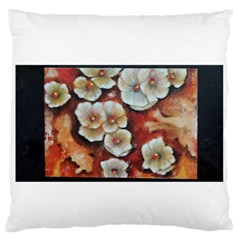 Fall Flowers No  6 Large Flano Cushion Cases (one Side)