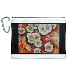Fall Flowers No. 6 Canvas Cosmetic Bag (XL)