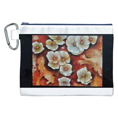 Fall Flowers No. 6 Canvas Cosmetic Bag (XXL)