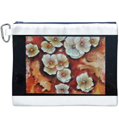 Fall Flowers No. 6 Canvas Cosmetic Bag (XXXL)