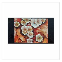 Fall Flowers No. 6 Large Satin Scarf (Square)
