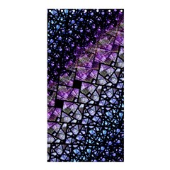 Dusk Blue And Purple Fractal Shower Curtain 36  X 72  (stall)