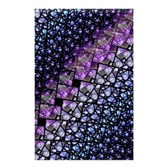Dusk Blue and Purple Fractal Shower Curtain 48  x 72  (Small)
