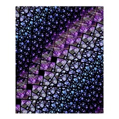 Dusk Blue And Purple Fractal Shower Curtain 60  X 72  (medium)