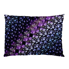 Dusk Blue And Purple Fractal Pillow Case (two Sides)
