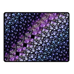 Dusk Blue And Purple Fractal Double Sided Fleece Blanket (small)