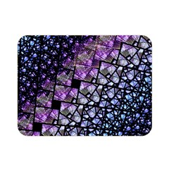 Dusk Blue and Purple Fractal Double Sided Flano Blanket (Mini)