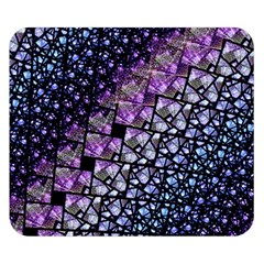 Dusk Blue And Purple Fractal Double Sided Flano Blanket (small)
