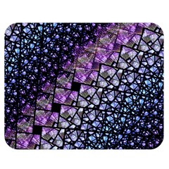 Dusk Blue and Purple Fractal Double Sided Flano Blanket (Medium)