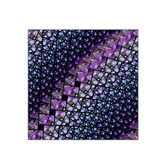 Dusk Blue And Purple Fractal Satin Bandana Scarf