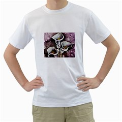 Gala Lilies Men s T-Shirt (White) (Two Sided)