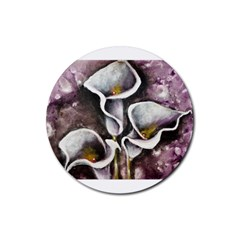 Gala Lilies Rubber Coaster (round)