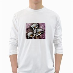 Gala Lilies White Long Sleeve T-Shirts
