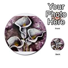 Gala Lilies Multi-purpose Cards (Round)