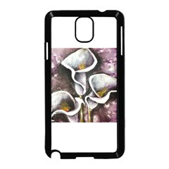 Gala Lilies Samsung Galaxy Note 3 Neo Hardshell Case (black)