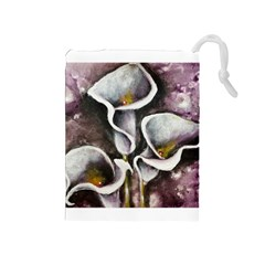 Gala Lilies Drawstring Pouches (Medium)