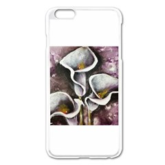 Gala Lilies Apple iPhone 6 Plus Enamel White Case