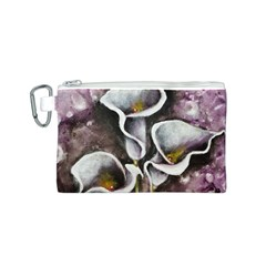 Gala Lilies Canvas Cosmetic Bag (S)