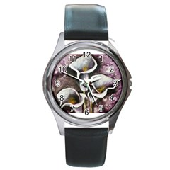 Gala Lilies Round Metal Watches