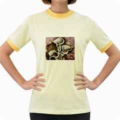 Gala Lilies Women s Fitted Ringer T-Shirts