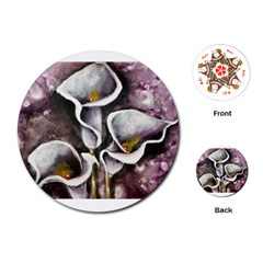 Gala Lilies Playing Cards (Round)