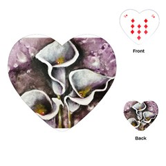 Gala Lilies Playing Cards (Heart)