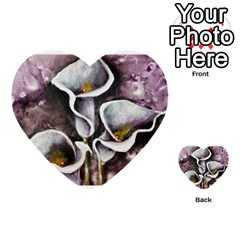 Gala Lilies Multi Purpose Cards (heart)