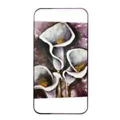 Gala Lilies Apple iPhone 4/4s Seamless Case (Black)