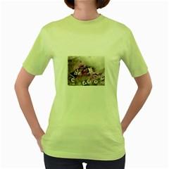 Shades of Purple Women s Green T-Shirt