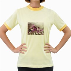 Shades of Purple Women s Fitted Ringer T-Shirts