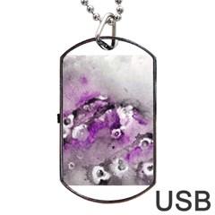 Shades Of Purple Dog Tag Usb Flash (one Side)