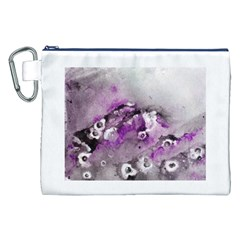 Shades Of Purple Canvas Cosmetic Bag (xxl)