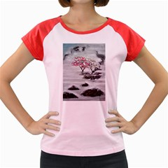 Mountains, Trees and Fog Women s Cap Sleeve T-Shirt