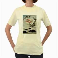 Mountains, Trees and Fog Women s Yellow T-Shirt