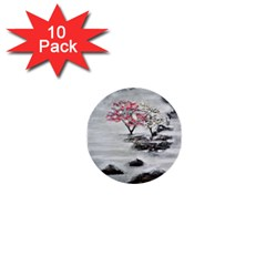 Mountains, Trees And Fog 1  Mini Buttons (10 Pack)