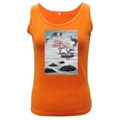 Mountains, Trees And Fog Women s Dark Tank Tops