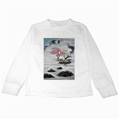 Mountains, Trees and Fog Kids Long Sleeve T-Shirts