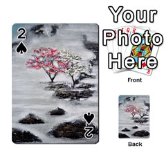Mountains, Trees and Fog Playing Cards 54 Designs
