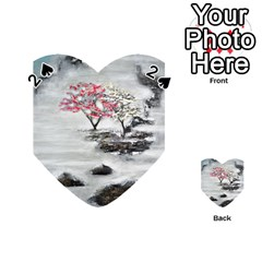 Mountains, Trees And Fog Playing Cards 54 (heart)