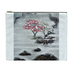 Mountains, Trees And Fog Cosmetic Bag (xl)
