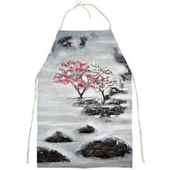 Mountains, Trees And Fog Full Print Aprons