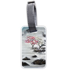 Mountains, Trees And Fog Luggage Tags (two Sides)