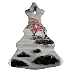 Mountains, Trees and Fog Christmas Tree Ornament (2 Sides)
