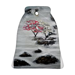 Mountains, Trees and Fog Bell Ornament (2 Sides)