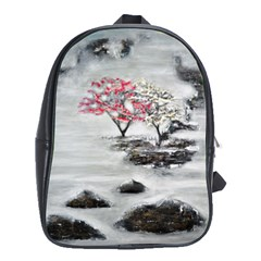 Mountains, Trees And Fog School Bags (xl)