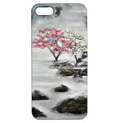 Mountains, Trees And Fog Apple Iphone 5 Hardshell Case With Stand