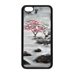 Mountains, Trees And Fog Apple Iphone 5c Seamless Case (black)