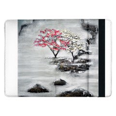 Mountains, Trees And Fog Samsung Galaxy Tab Pro 12 2  Flip Case