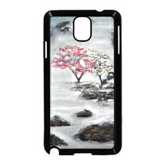 Mountains, Trees and Fog Samsung Galaxy Note 3 Neo Hardshell Case (Black)