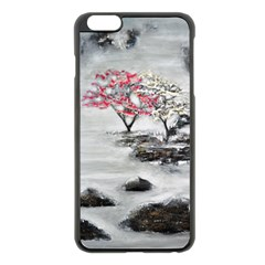 Mountains, Trees and Fog Apple iPhone 6 Plus Black Enamel Case